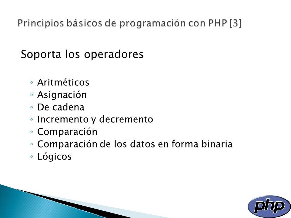 Principios básicos de programación con PHP [3]